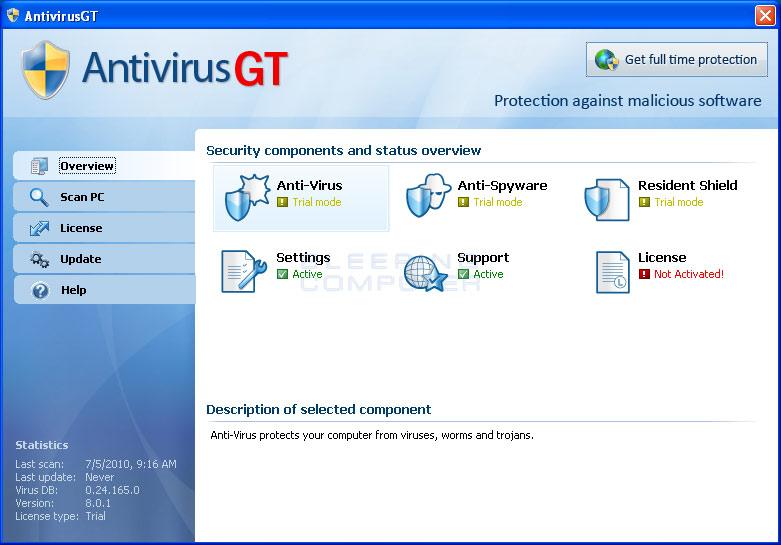 AntivirusGT screen shot