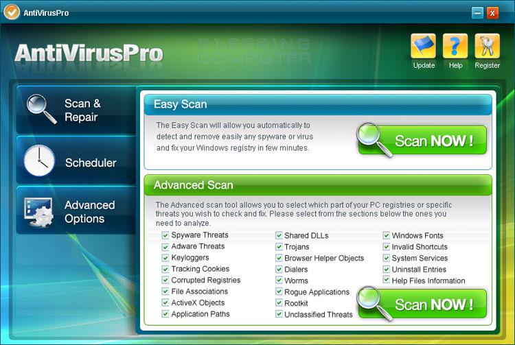 AntiVirusPro screen shot