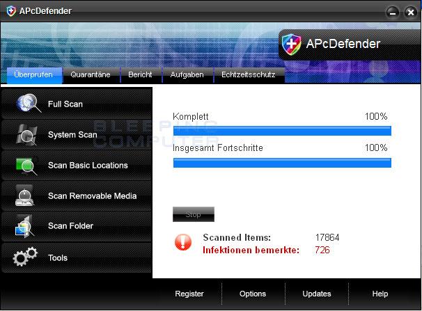 APcDefender screen shot