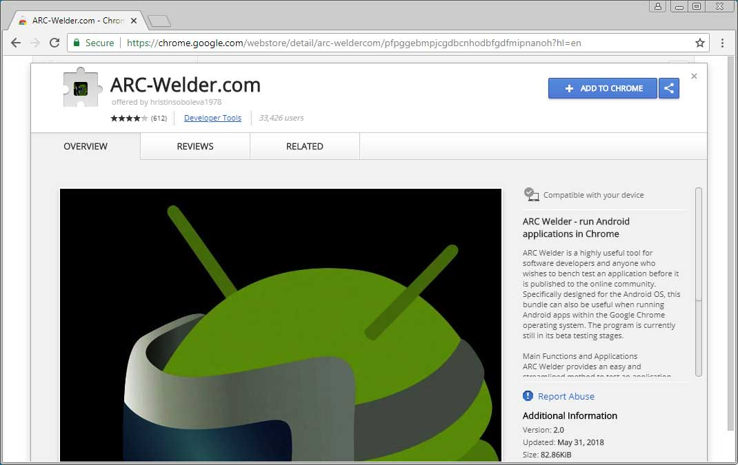 Remove the ARC-Welder com Chrome Extension