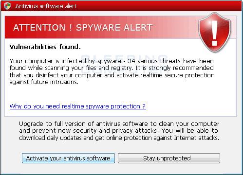 Vulnerability alert