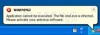Infected Program Alert