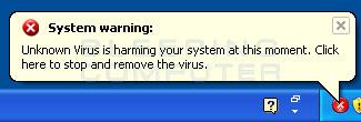 System warning alert