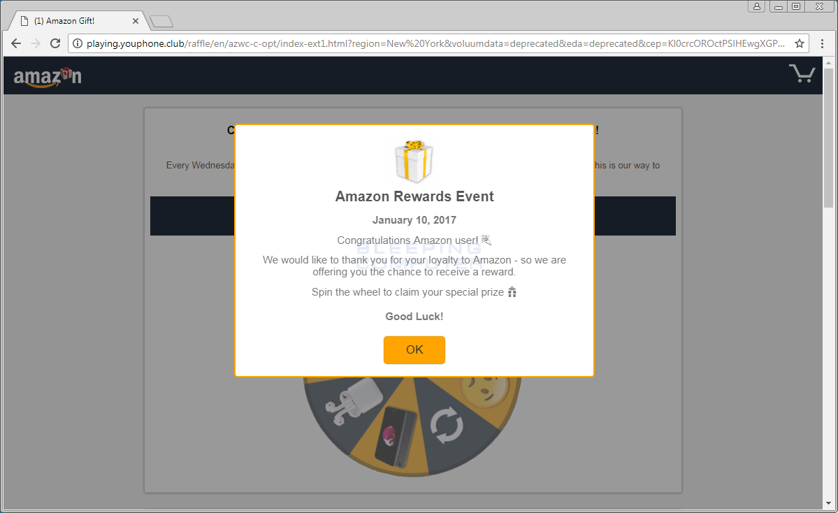 Amazon Rewards Event Advertisement
