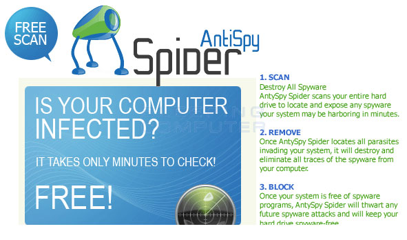 AntiSpySpider Popup Ad #3