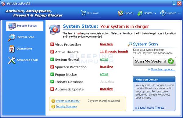 AntivirusForAll Screenshot