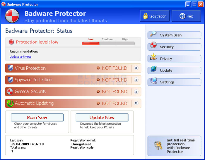 Badware Protector screen shot