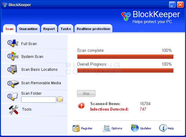 BlockKeeper screen shot