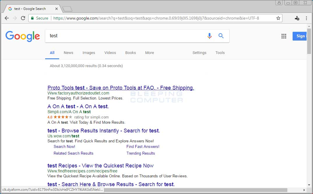 Injected Search Result Ads