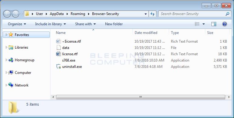 Browser Security Folder