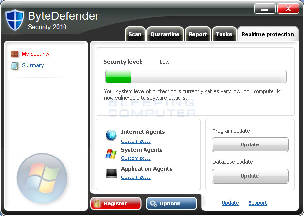 ByteDefender Screen shot