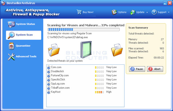 BestsellerAntivirus Screenshot