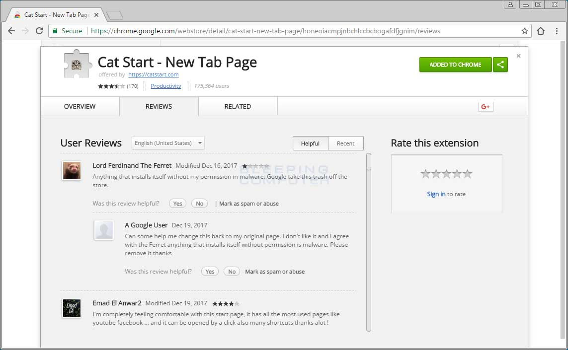 How to remove the start page