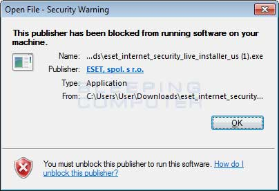 Blocked ESET Installer