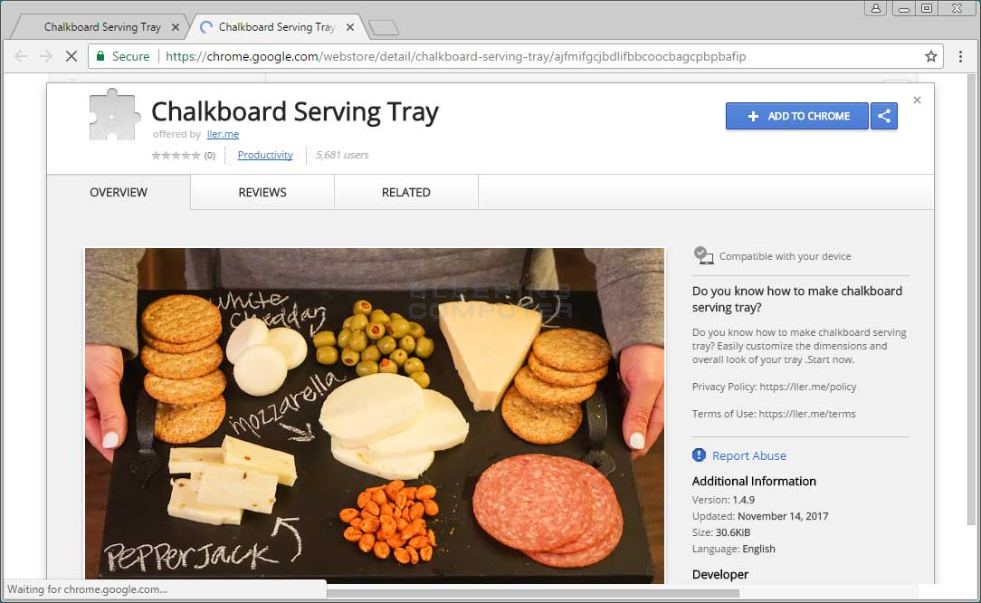 Chalkboard Serving Tray Chrome Store Page