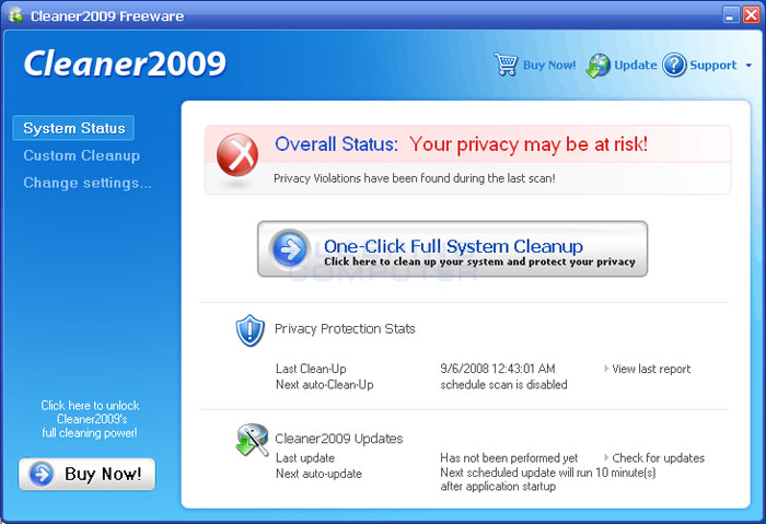 Cleaner2009 Screen Shot