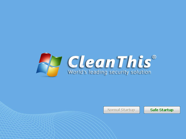 CleanThis start screen
