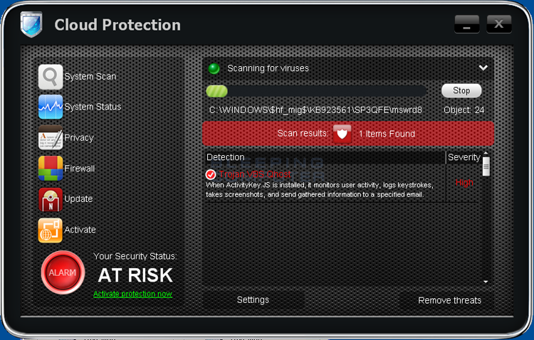 Cloud Protection screen shot