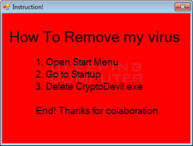 Instructions After Entering Correct Code