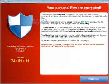 CryptoLocker Ransomware Information Guide and FAQ Image