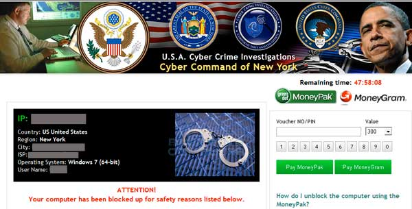 Cyber Command of New York Ransomware screen shot