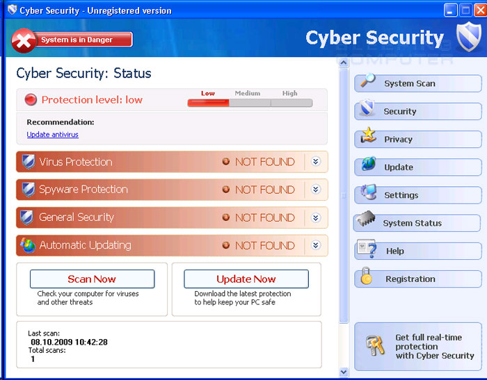 Cyber Security screen shot