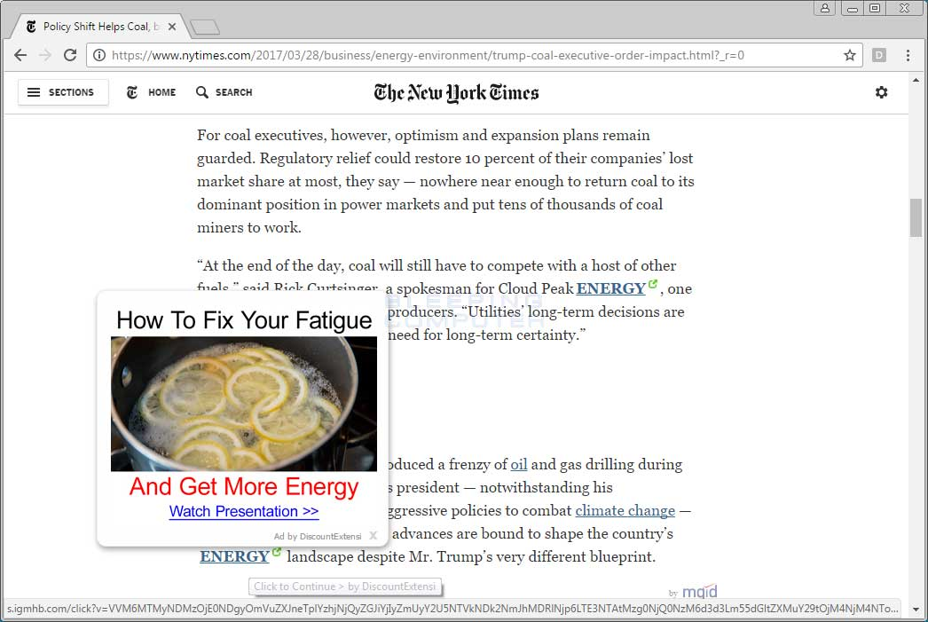 DiscountExtensi Ads on the NYTimes.com