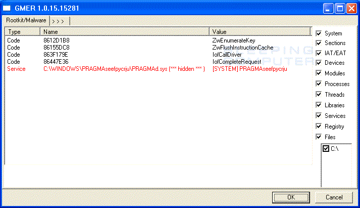 Bundled Pragma rootkit infection