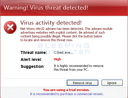Virus Threat alert