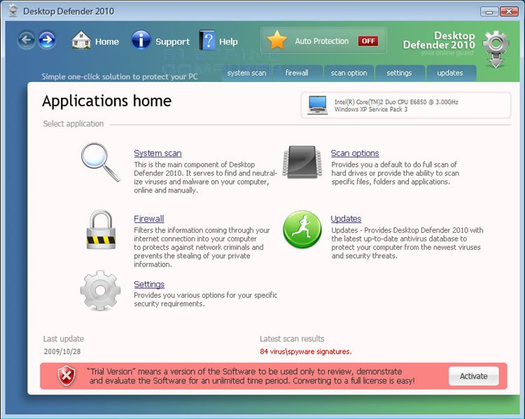 Desktop Defender 2010