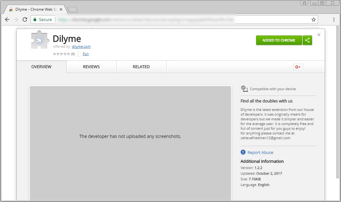 Chrome Web Store Page