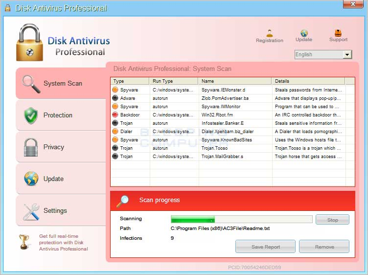 Disk Antivirus Professional screen shot