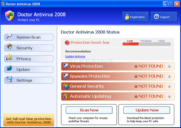Doctor Antivirus screen shot