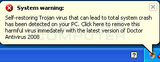 Fake alert created by Doctor Antivirus