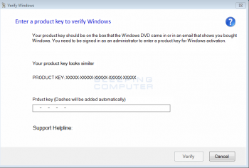 Fake Verify Windows Alert Screenshot