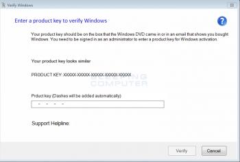 Fake Verify Windows Alert Image