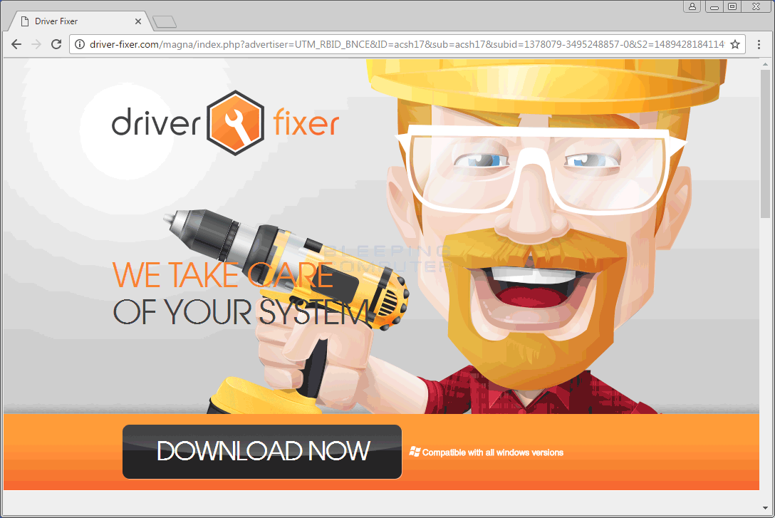 Driver-fixer.com Pop-Up Advertisement