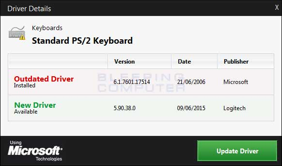 Keyboard Driver Update