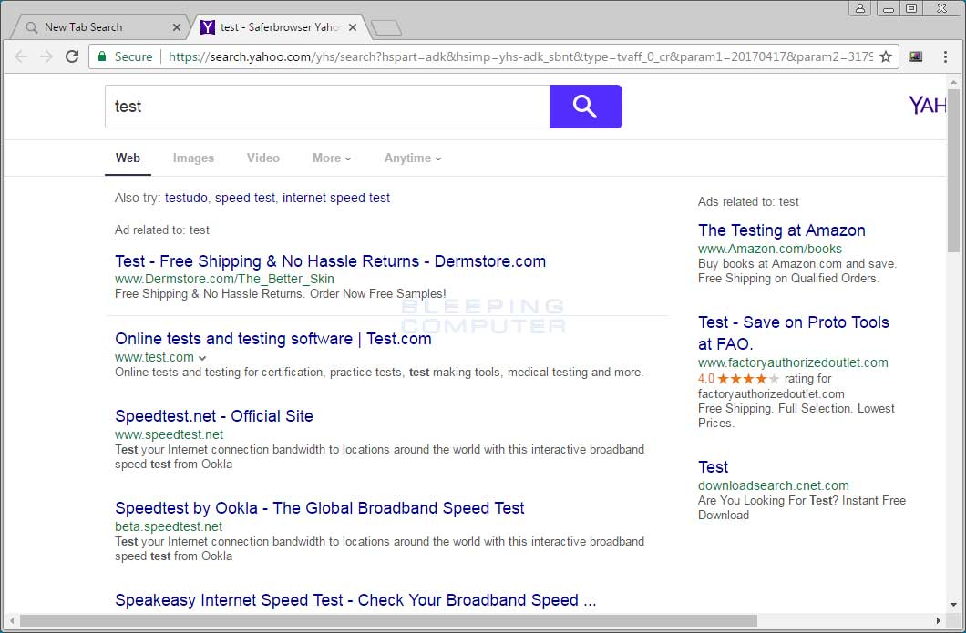 Yahoo Search Results