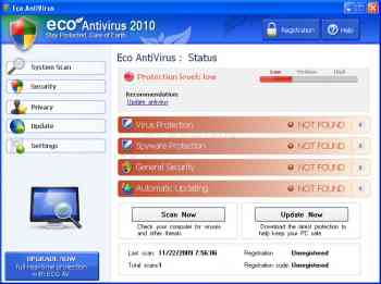 Eco AntiVirus 2010 Image