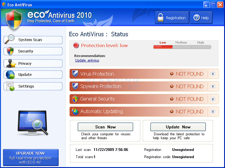 Remove Eco AntiVirus 2010 (Uninstall Guide)