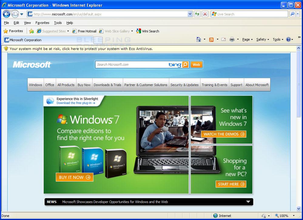 Hijacked Internet Explorer #1