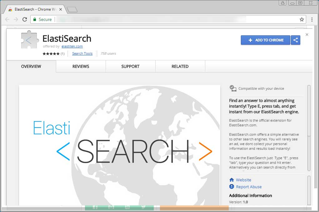 ElastiSearch Extension Page