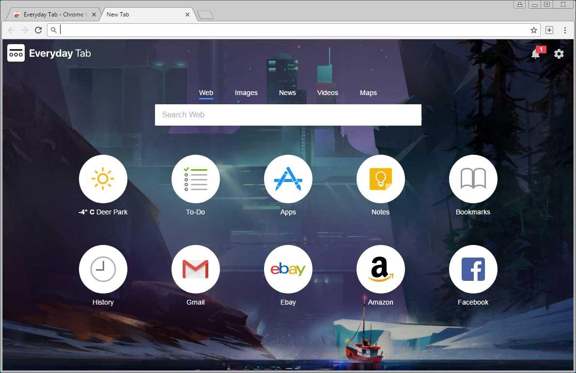 Everyday Tab Chrome Extension