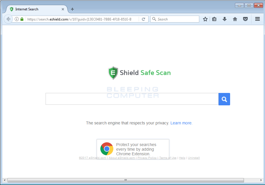 Search.eshield.com Home Page