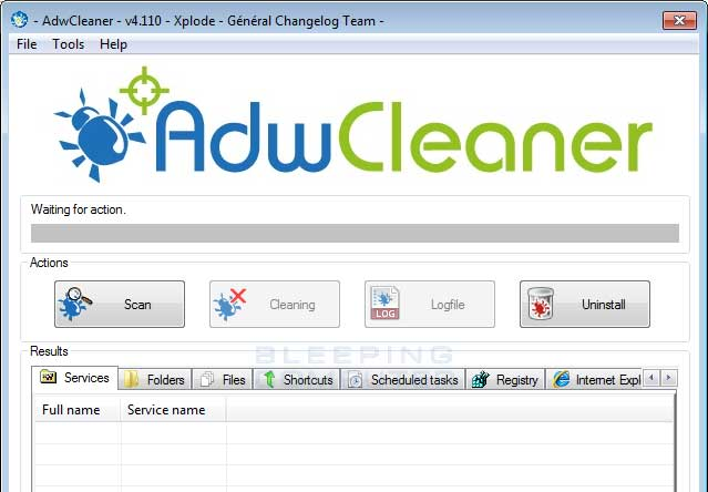 AdwCleaner screenshot