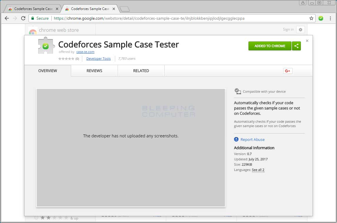 Fake Codeforces Sample Case Tester Extension