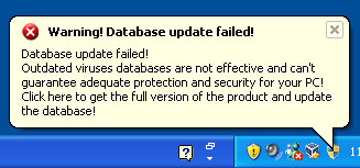 Outdated databases alert