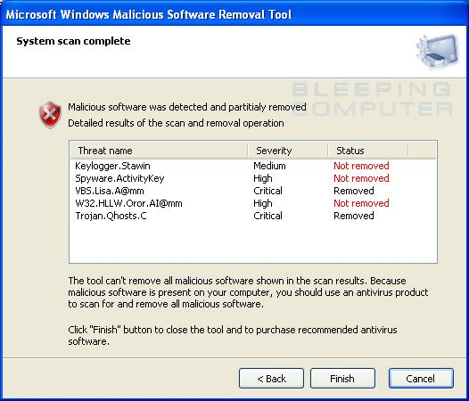 How to remove the fake Microsoft Windows Malicious Software