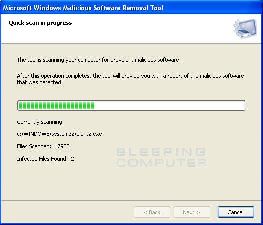 Fake MSRT scanning screen